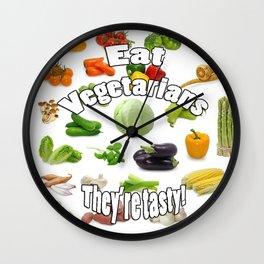 Eat A Vegetarian Wall Clock