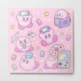 Kirby Gamer Metal Print