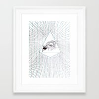 all seeing eye Framed Art Prints featuring All Seeing Eye by Rachel Hoffman