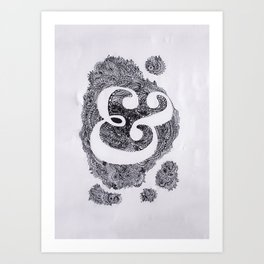Stitched Ampersand Poster Art Print