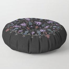 Wiccan Mandala Floor Pillow
