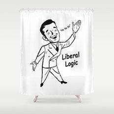 Liberal Logic - Ha Ha Ha Shower Curtain