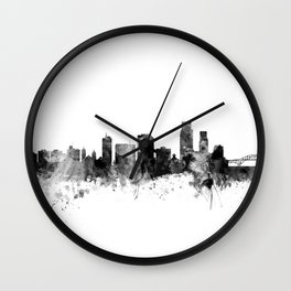 Corpus Christie Texas Skyline Wall Clock