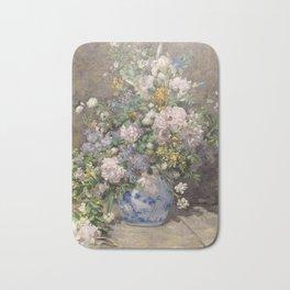 """Auguste Renoir """"Spring bouquet"""" Bath Mat"""