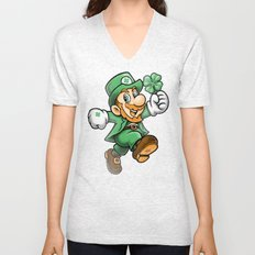 Lucky Mario Unisex V-Neck