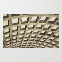 washington dc Area & Throw Rugs featuring Washington DC Metro by Line of Sight