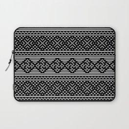 Traditional Ethno Ornament - Ancestors Spiritual Strength - Slavic Horizontal Symbol Laptop Sleeve