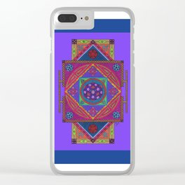 Just Another Roll of the Dice (Blue) Clear iPhone Case