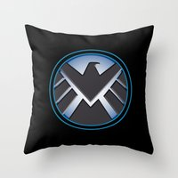 shield Throw Pillows featuring Shield by livinginamovie