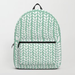 Knit Wave Mint Backpack