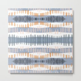 Tribal Watercolor Stripes Metal Print