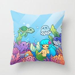 Sea Cuties Throw Pillow
