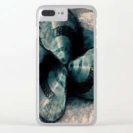 Shells in a row Clear iPhone Case