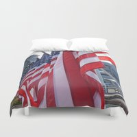 usa Duvet Covers featuring USA by MariahSmyth