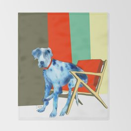 Great Dane in Chair #1 Throw Blanket