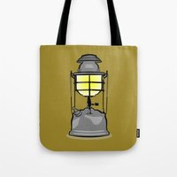 lantern Tote Bags featuring Lantern by mailboxdisco