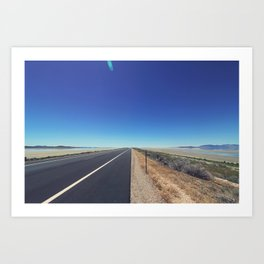 Road to Antelope Island Art Print