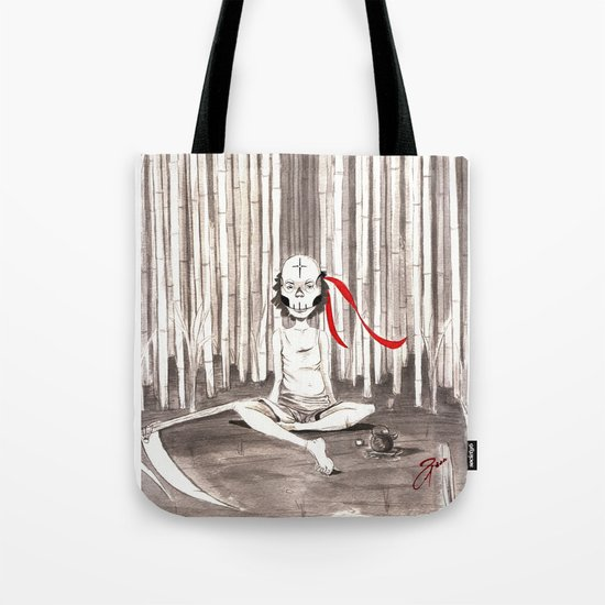 Death Wears a Mask Tote Bag