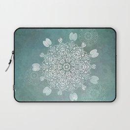 Turquoise Batik Mandala Float Laptop Sleeve