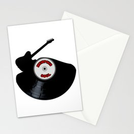 Memphis Soul Music Silhouette Record Stationery Cards