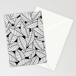 Leaves in Black Stationery Cards