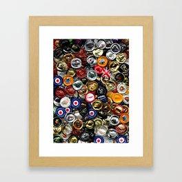 Beer Bottletops Framed Art Print