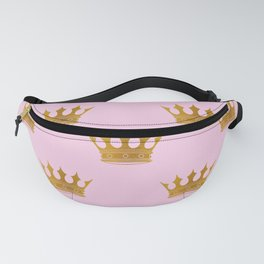 Princess Charlotte Rose Pink with Gold Crowns Fanny Pack