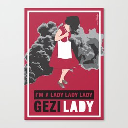 Gezy Lady Canvas Print