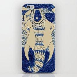 Elephant Doodle #1 iPhone Skin