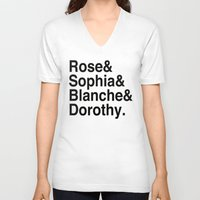 golden girls V-neck T-shirts featuring Golden Girls by pruine
