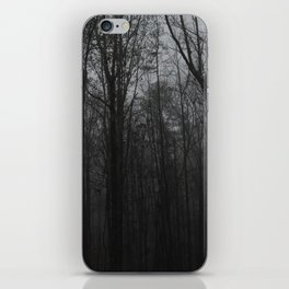 b&w woods iPhone Skin