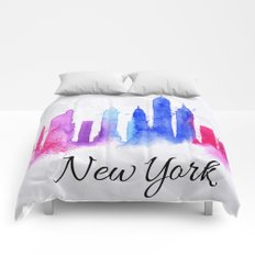 Color New York Skyline 02 Comforters