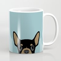 chihuahua Mugs featuring Chihuahua by Anne Was Here