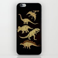 dinosaurs iPhone & iPod Skins featuring Dinosaurs by chobopop