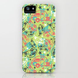 Retro Green Tab Trailers iPhone Case