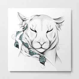Poetic Cougar Metal Print