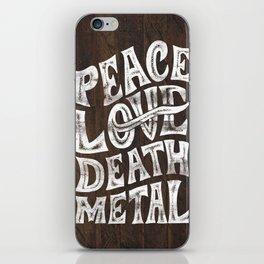 Peace Love Death Metal iPhone Skin