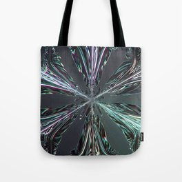 Abstract pattern leggings tshirts from snowflakes: Clouds Make Crystals into Feathers Tote Bag