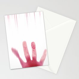 blood hand Stationery Cards