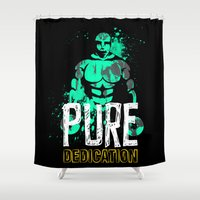 crossfit Shower Curtains featuring Pure Dedication by Wilson Ordonez