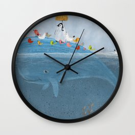 feather friends Wall Clock