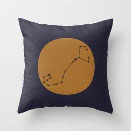 Scorpio Constellation - Bold Blue & Gold Throw Pillow