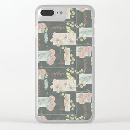 Flower Fracas Clear iPhone Case