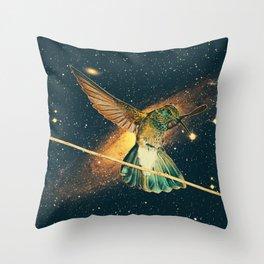 """Colibri cosmique"" Throw Pillow"