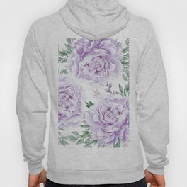 Pretty Purple Flower Garden Hoody