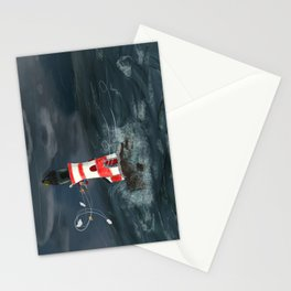 Gust of wind. Stationery Cards