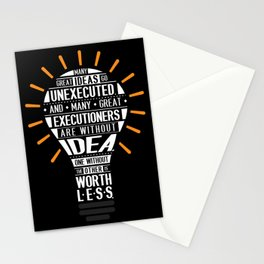 Lab No. 4 Many Great Ideas Go Tim Blixseth Inspirational Quotes Stationery Cards