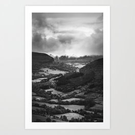 Forests and Storms - Black and White Collection Art Print