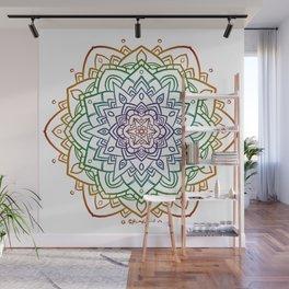 Floral Mandala A - Rainbow Line Wall Mural