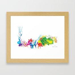 """Illustration for the children's book """"Small White"""" 6 Framed Art Print"""